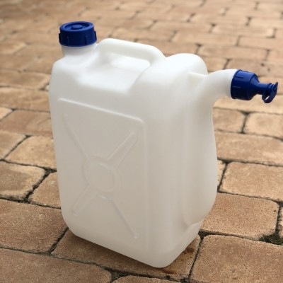 Canistra cu 2 capace, material de plastic, 13 litri