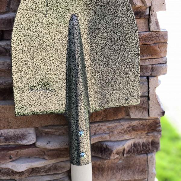 Cazma gri carbon cu coada de lemn